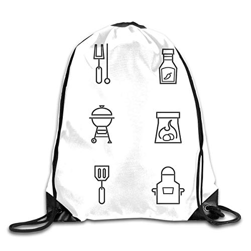 BXBX Plegable Free Barbecue and Grilled Food Drawstring Backpack Bag Shoulder Bags Gym Bag for Adult