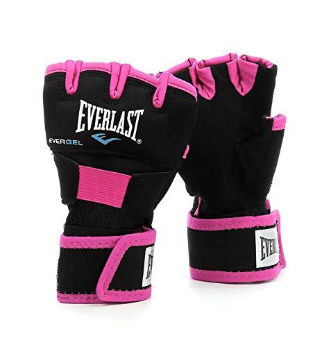 Everlast Evergel Handwraps Box Equipment, Nero, Rosa, S/M