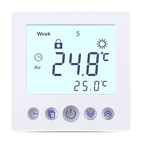 Digital Thermostat C16, Unterputz Regler Raumthermostat Thermostat für elektrische Fußboden-Heizung