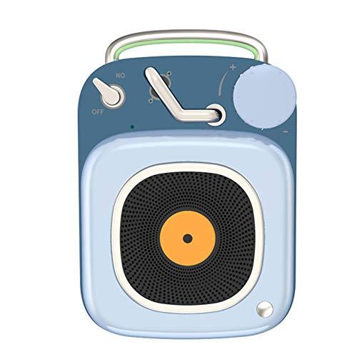 URAURORA Mini Retro platenspeler model cadeau, bewegende Bluetooth luidspreker met eenvoudige bediening lange levensduur van de batterij voor vriendin, kindercadeau, tafeldecoratie