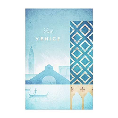 "Noir Gallery Minimal Travel Venice Italy 12"" x 18"" Unframed Art Print/Poster"