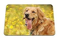 26cmx21cm マウスパッド (犬の顔の花舌レジャー) パターンカスタムの マウスパッド