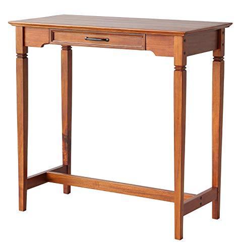 テーブル カウンターテーブル キッチンカウンター バーカウンター 作業台 カフェテーブル 幅88cm引き出し付き 北欧 おしゃれ 一人暮らし 木製 シンプル アンティーク マホガニー