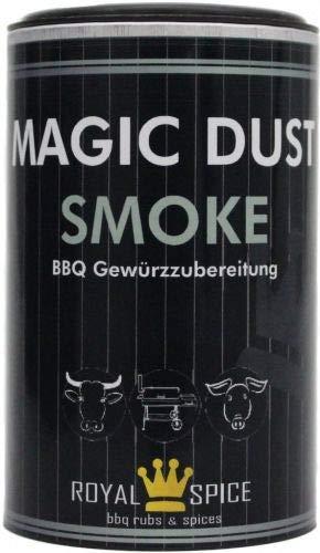 Royal Spice Magic Dust Smoke BBQ Rub - 350g Dose - Gewürzmischung mit geräucherter Paprika und Rauch für unwiderstehlichen Geschmack zum Barbeque