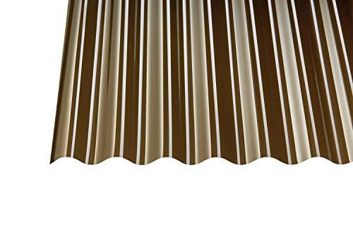 Polycarbonat Wellplatten Profilplatten Sinus 76/18 bronce ohne Struktur (2000 x 1040 mm)