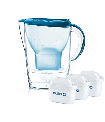 BRITA Marella Cool Pitcher Water Filter 2.4L Blue, transparent – Water Filters (256 mm, 104 mm, 258 mm, 3 PC (S))