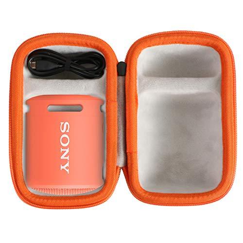 co2CREA Duro Viajar Caso Cubrir para Sony SRS-XB12 / Sony SRS-XB13 Altavoz inalámbrico portátil(Funda Solo) (Negro/Rosa Coral)