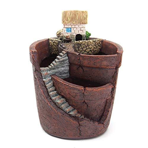 Suculentas Plantas en Maceta de Plantas Creativas con Maceta Combinación de Resina Potted Flower Baskese House Pot