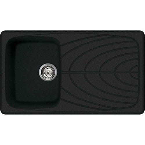 Elleci lavello incasso master 400 1 vasca con gocciolatoio 86x50 reversibile granito granitek antracite 59 - LGM40059