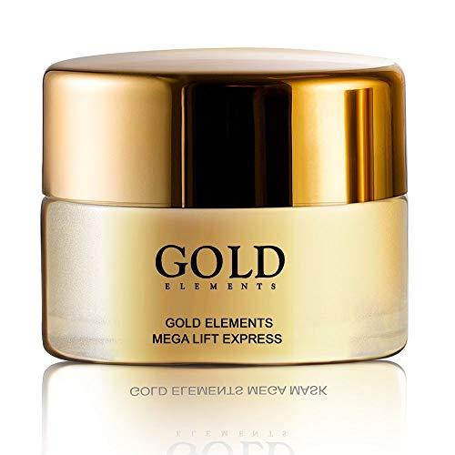 Mascarilla oro 24 K Gold Elements mega lift expres, hipoalergénico, Lifting Facial instantáneo inspirado en técnicas únicas de cirujanos plásticos – 50 ml