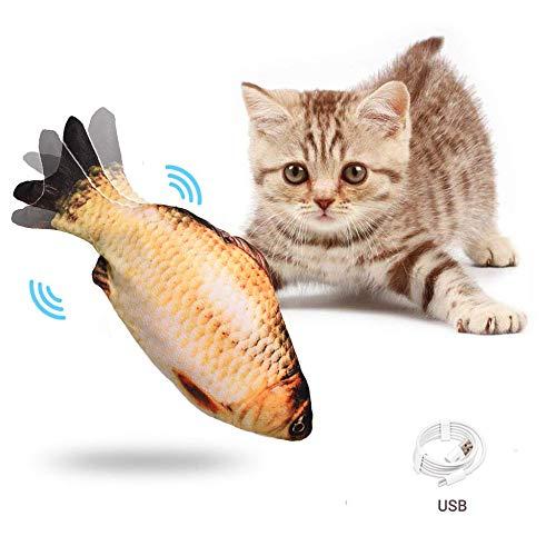 WAIDLY Juguetes realistas de Catnip para Peces, simulación automática de Felpa de Flopping Juguetes interactivos para Peces de Gato - Mordedura de masticación y Gato Estimulante de Frolicat,b