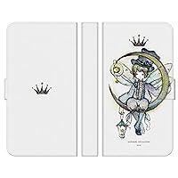 ブレインズ らくらくスマートフォン F-42A 手帳型 ケース カバー 月の妖精 よう かわいい 月 少年 星 wonder collection イラスト デザイナー