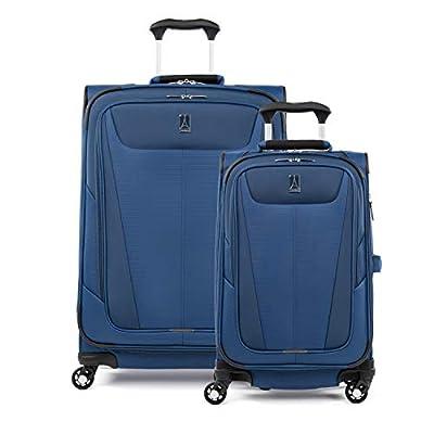 "Travelpro Maxlite 5 Lightweight 2-piece Set(21"",25"") Expandable Softside Luggage Sapphire Blue, 2 PC (21/25)"