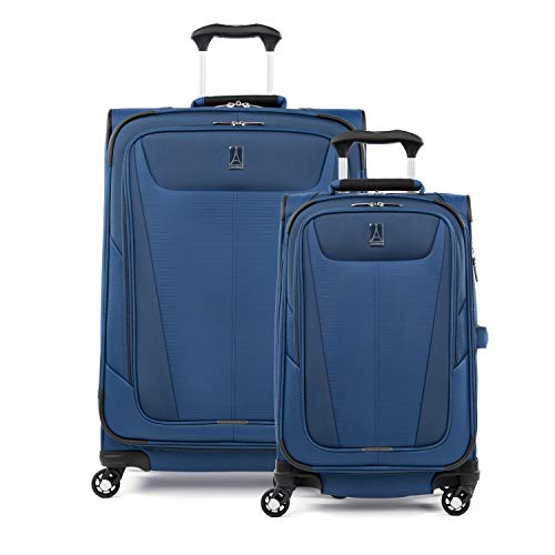 Travelpro Maxlite 5 - Softside Expandable Spinner Wheel Luggage, Sapphire Blue, 2-Piece Set (21/25)