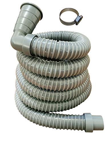 13ft - Universal Washing Machine Drain Discharge Hose - Zulu Supply - Thick, Heavy Duty Rubber, Fits Many Washing Machine Drain Discharge Outlets, Large, XL, Extra Long, Extension, 13 Feet