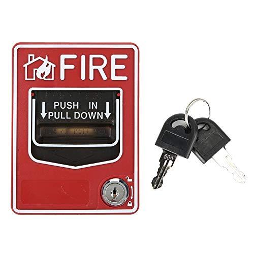 Manueller Rufpunkt, Feueralarm Dual Action Manual Pull Station für Ton- und Lichtalarme bei einem Brand.