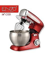 جهاز تحضير الطعام ITAENZO سعة 7 لتر من الفولاذ مع مقبض 1300 وات أحمر 5 في 1 أدوات مطبخ متعددة الوظائف طبخ الآيس كريم خلاط الحليب الطازج (√COD)