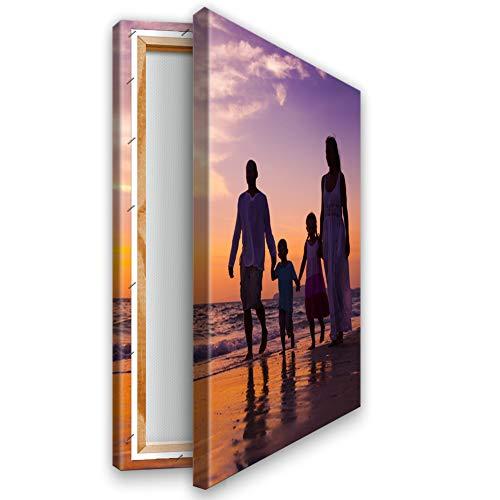 Ihr Foto auf Leinwand 20x30 cm auf 2 cm Dicker Keilrahmen aus Holz. Ihr eigenes Bild auf Leinwand mit Keilrahmen - Wandbild mitWunschmotiv - Persönliches Kunstdruck