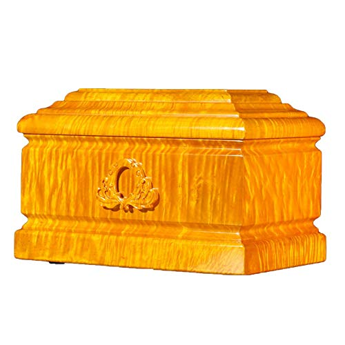 LXYLXY Protect The Life Box Urns for Human Ashes, Adult Cremation Urns Keepsake jar, Suitable Home Place or Burial (Gold Wire Nanmu, 400 Cubic Inches) Funeral Supplies