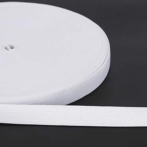 Deirdre Agnes 5 Yard wit zwart elastisch lint Trim naaien elastisch lint voor kleding Elastisch stikmateriaal