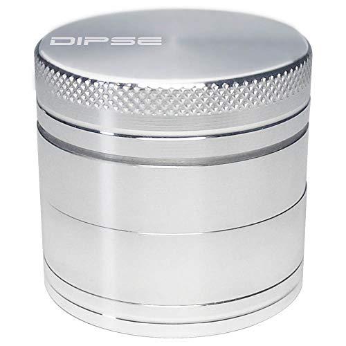 DIPSE 40mm Alu Grinder 4-teilig mit Sieb aus CNC gefrästen Aerospace Aluminium - Für den Gebrauch von Kräuter- und Tabakwaren
