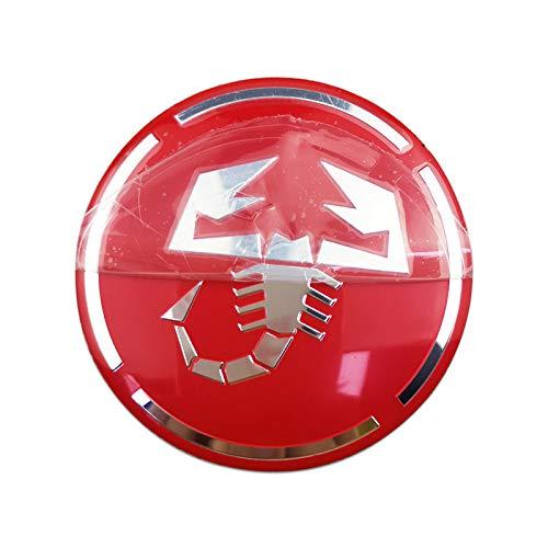 BAOBUM Pegatinas para llantas de coche, 56 mm, diseño de escorpión, para Nissan tiida almera Maxima Titan, Renault Duster Sandero Laguna 2 tapas de rueda de coche (nombre del color: rojo)