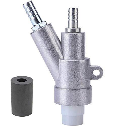 Luft-Sandstrahldüse aus Borkarbid mit 8 mm Borkarbid Sandstrahldüsenabdeckung für Roststaub entfernen Silber