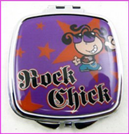 Rock Chick maquillage Compact Miroir