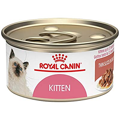 Royal Canin Feline Health Nutrition Kitten Thin Slices In Gravy Canned Cat Food, 3 oz Can (Pack of 24)