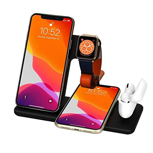 15W Qi Fast Wireless Charger Stand for IPhone 11 XR X 8 Apple Watch...