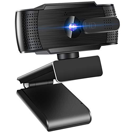 Anykuu Webcam per PC con Microfono 1080p full HD 30 fps Plug And Play USB Camera per Videochiamate Conferenze Streaming Registrazione
