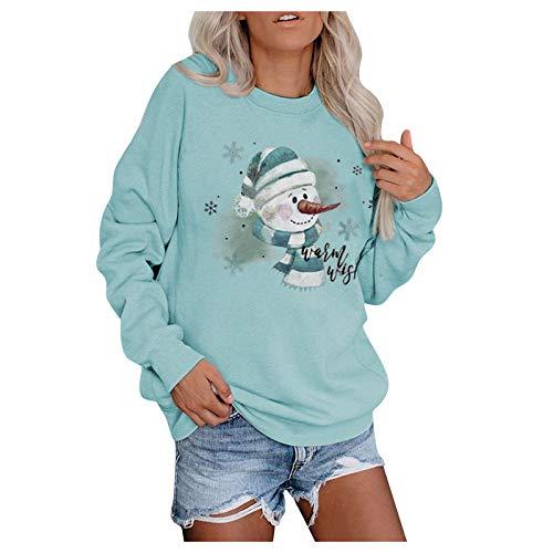 Lazzboy Sweatshirt Frauen Pullover Weihnachts Schneemann Weihnachten Sweatshirts...