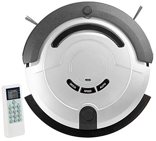 Sichler Haushaltsgeräte Staubroboter: Staubsauger-Roboter mit Bürst- & Wischfunktion, 200 ml Wassertank (Reinigungsroboter)