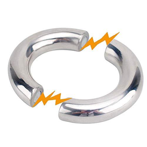 Magnetischer Runder Hodenstrecker Aus Edelstahl Metall Penis/Hoden Ring Hodensack Hodenfolter SM Bondage Fetish