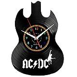 EVEVO ACDC Reloj De Pared Vintage Diseño Moderno Reloj De Vinilo Colgante Reloj De Pared Reloj Único 12' Idea de Regalo Creativo Vinilo Pared Reloj ACDC