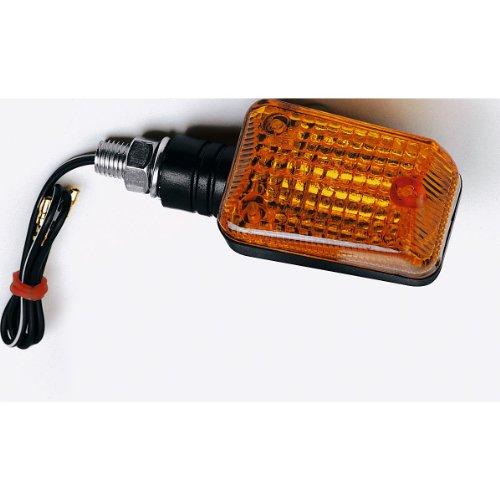 Hashiru Motorrad Blinker E geprüft Blinker ST03 12V/H21 M10 kurz schwarz, Unisex, Multipurpose, Ganzjährig, Kunststoff