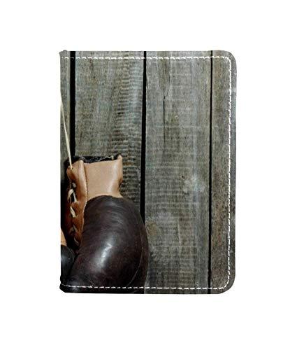 Brieftasche für alte Boxhandschuhe, Reisepasshülle, Leder, Braun