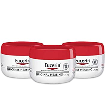 Eucerin Original Healing Cream - Fragrance Free Rich Lotion for Extremely Dry Skin - 4 oz Jar  Pack of 3