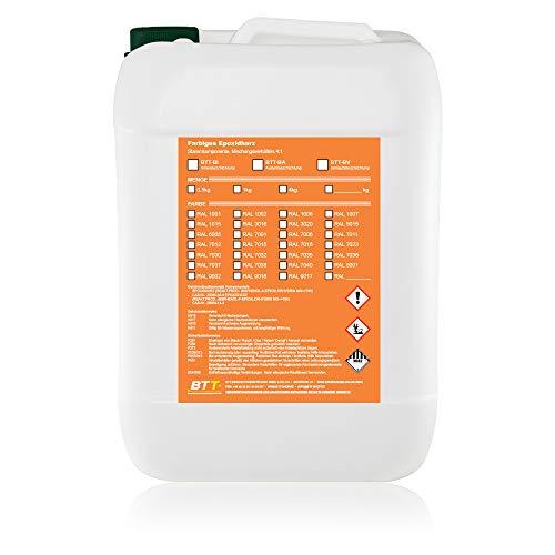 BTT-BI Epoxidharz Bodenbeschichtung RAL 7012 für 25m² Innen Garage Keller Wohnraum Gießharz Epoxy