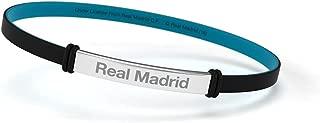Pulsera Real Madrid Club de Fútbol Fashion Negra Junior para Mujer y Niño. Pulsera de silicona y acero inoxidable. Producto Oficial.
