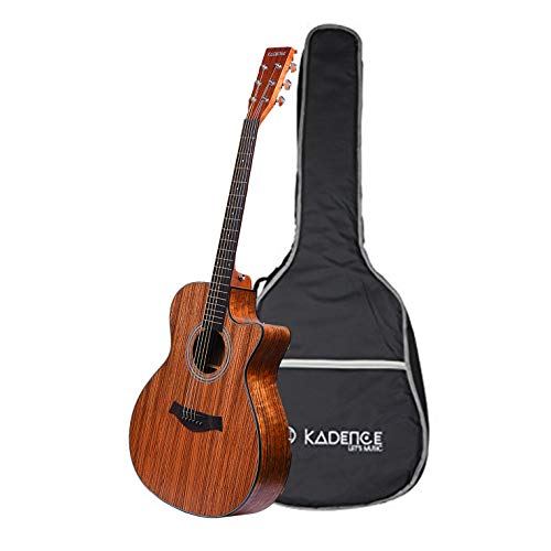 Kadence Acoustica Series Zebra Wood Semi Acoustic Guitar with Bag