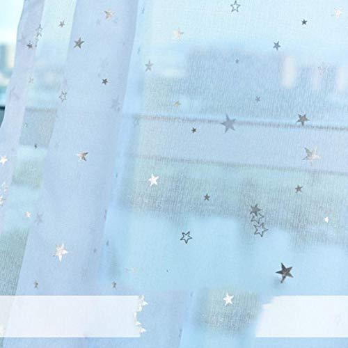 PENVEAT 1 Paneel Stern Verdunkelungsvorhänge für Schlafzimmer Wohnzimmer Vorhang Kinderzimmer Vorhang La Cortina del Apagon Cortina para Sala, Tüll, 100 x 250 cm