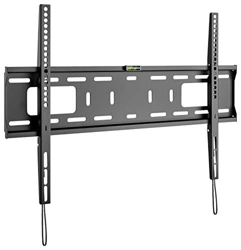 goobay 49892 Soporte de Pared para TV Pro Fixed (XL), 43 a 100 Pulgadas (109-254 cm), 75 Kg, Montaje fácil y Seguro, Vesa Standard, QLED/LED, Negro