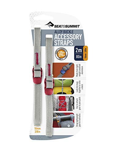 Sea to Summit Alloy Buckle Accessory Straps - Red/Red, 2 m