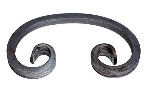 UHRIG ® C Schnörkel Bogen Schnecke schmiedeeisen aus Vierkantstahl 12x12mm geschmiedet Eisen-Kunst Zierelement für Zaun Geländer (190x123mm)