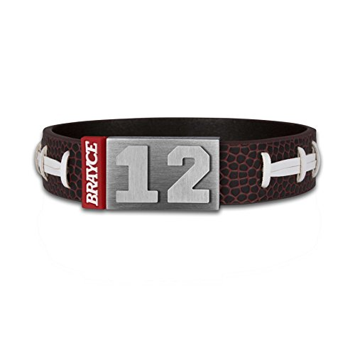 BRAYCE® American Football Armband mit Deiner Trikot Nummer 00-99 I Football Trikot für's Handgelenk personalisierbar & handgemacht