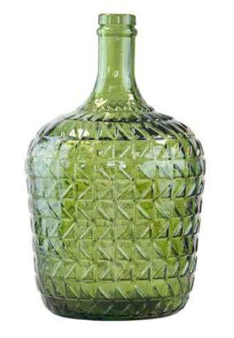Garrafa 4L Relieve Vidrio Reciclado (Verde)