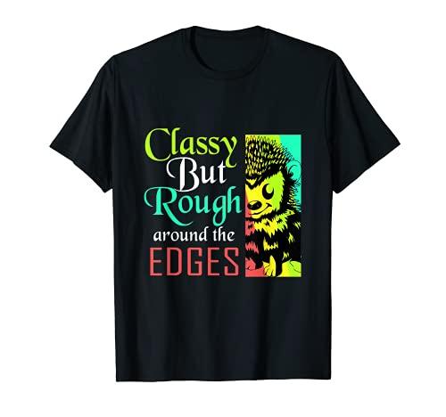 Con clase pero áspero alrededor de los bordes retro erizo Camiseta