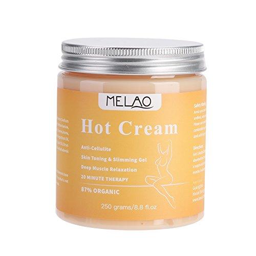 MELAO Hot Cream, Cellulite-Entfernungscreme Natürliche, schlanke, straffende Körpercreme, Anti-Cellulite-Creme, die die Taille und das Gesäß des Bauches fett formt