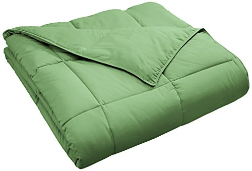 SUPERIOR Classic All-Season Down Alternative Comforter with Baffle Box Construction, Twin, Terrace Green